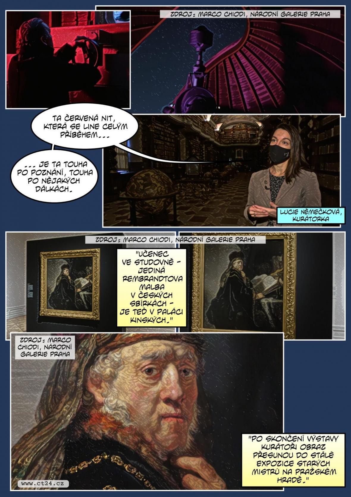 Baletní tanečníci rozhýbali výstavu Rembrandtových děl