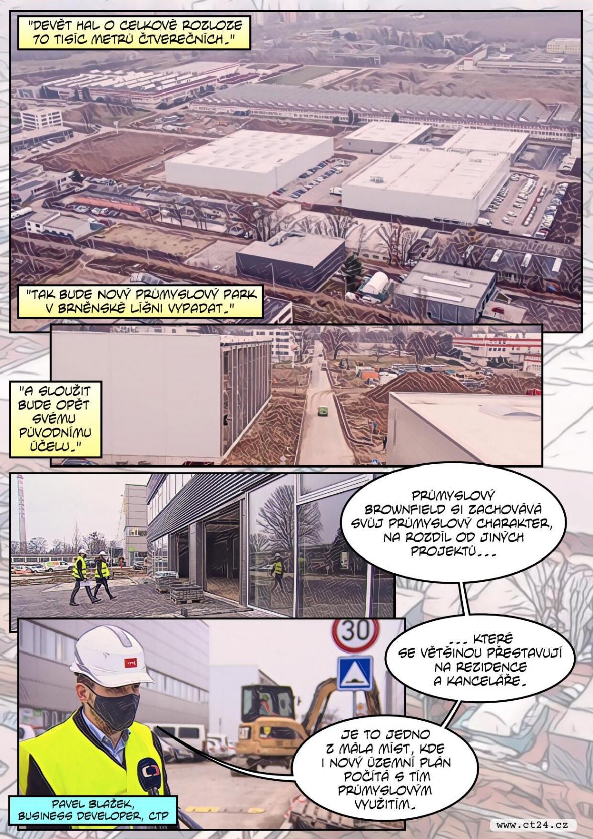 Bývalé městské továrny v Brně znovu ožívají. Rostou v nich průmyslové haly i kanceláře