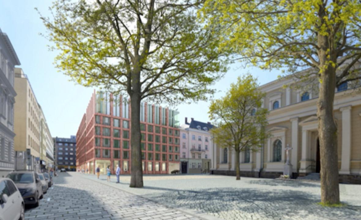 Návrh parkovacího domu v centru Ostravy