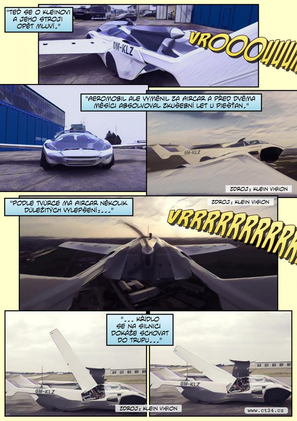 Aeromobil nebo-li létající auto je slovenský vynález