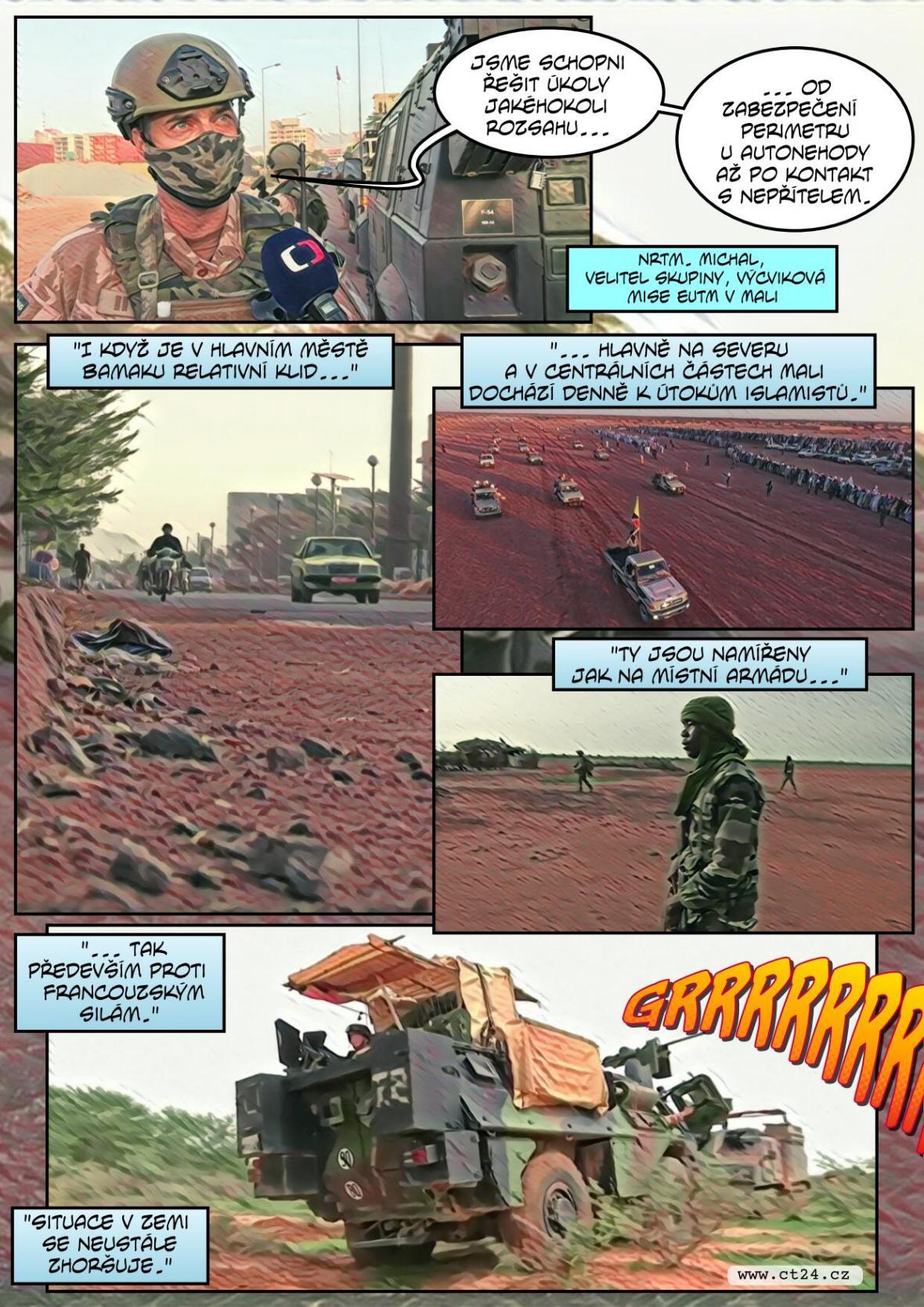 Armáda v Mali pokračuje