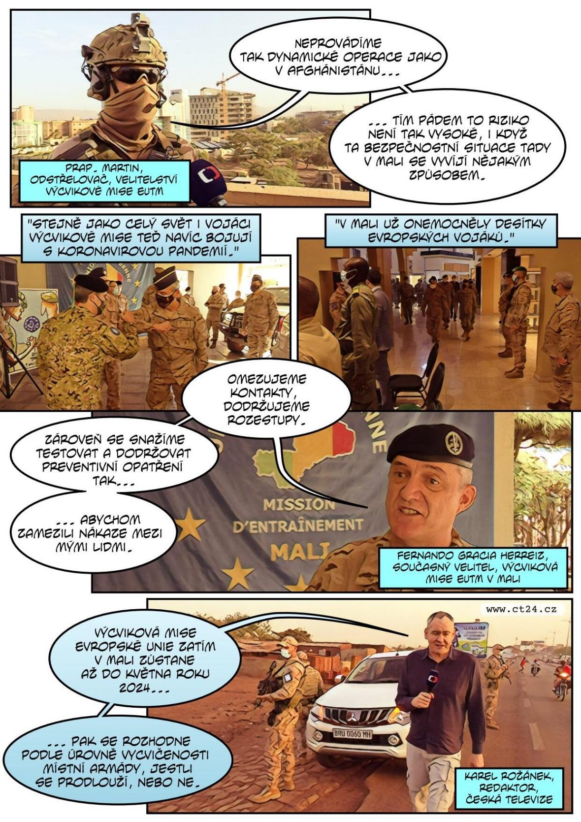 Češi cvičí vojáky v Mali