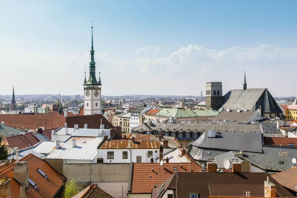 Olomoucká radnice a chrám svatého Mořice