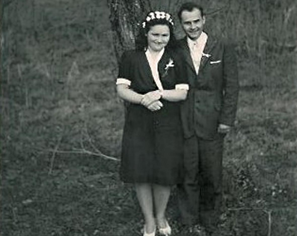 Václav Lhotecký se ženou