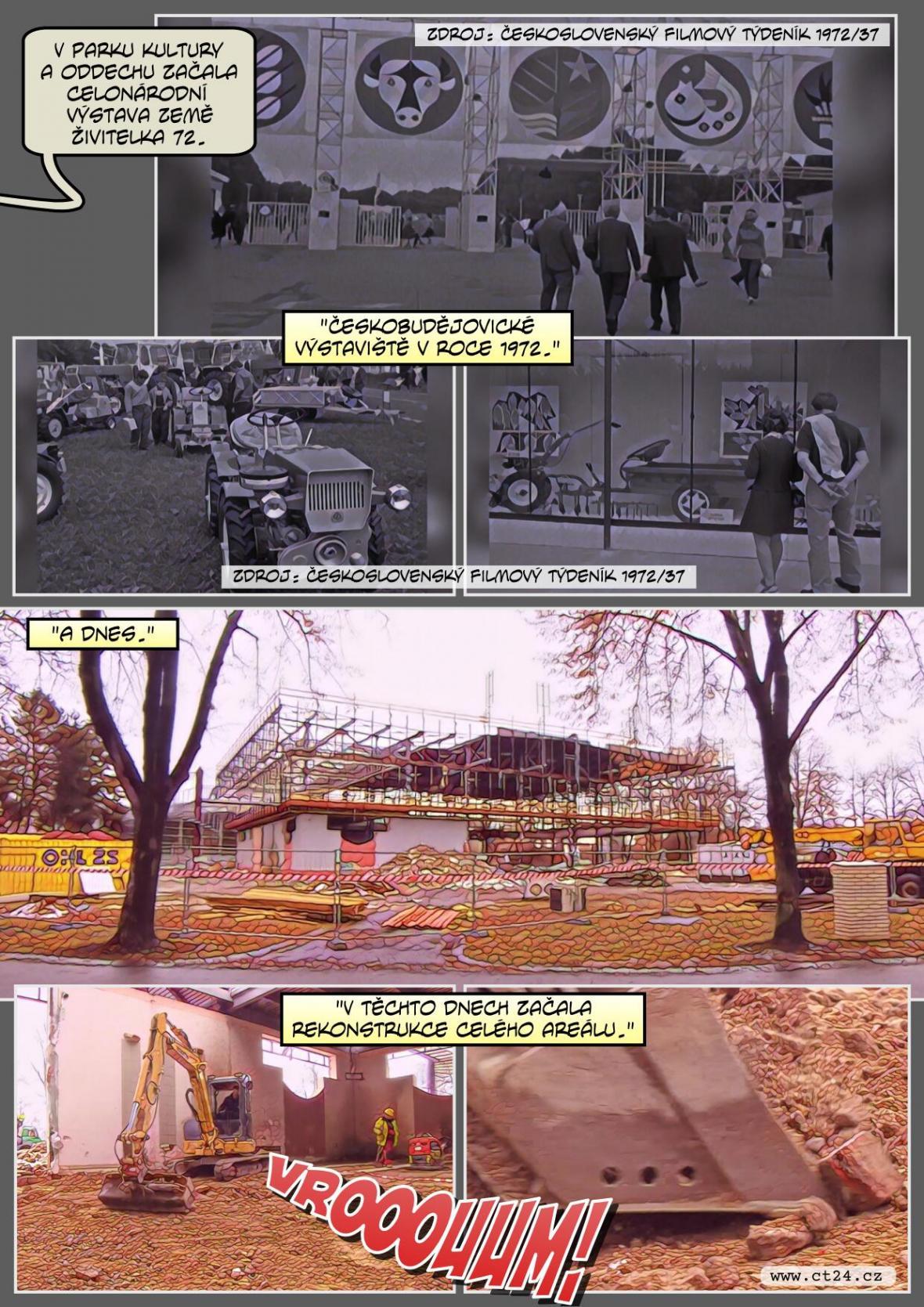 Bourají budějovické výstavní pavilony