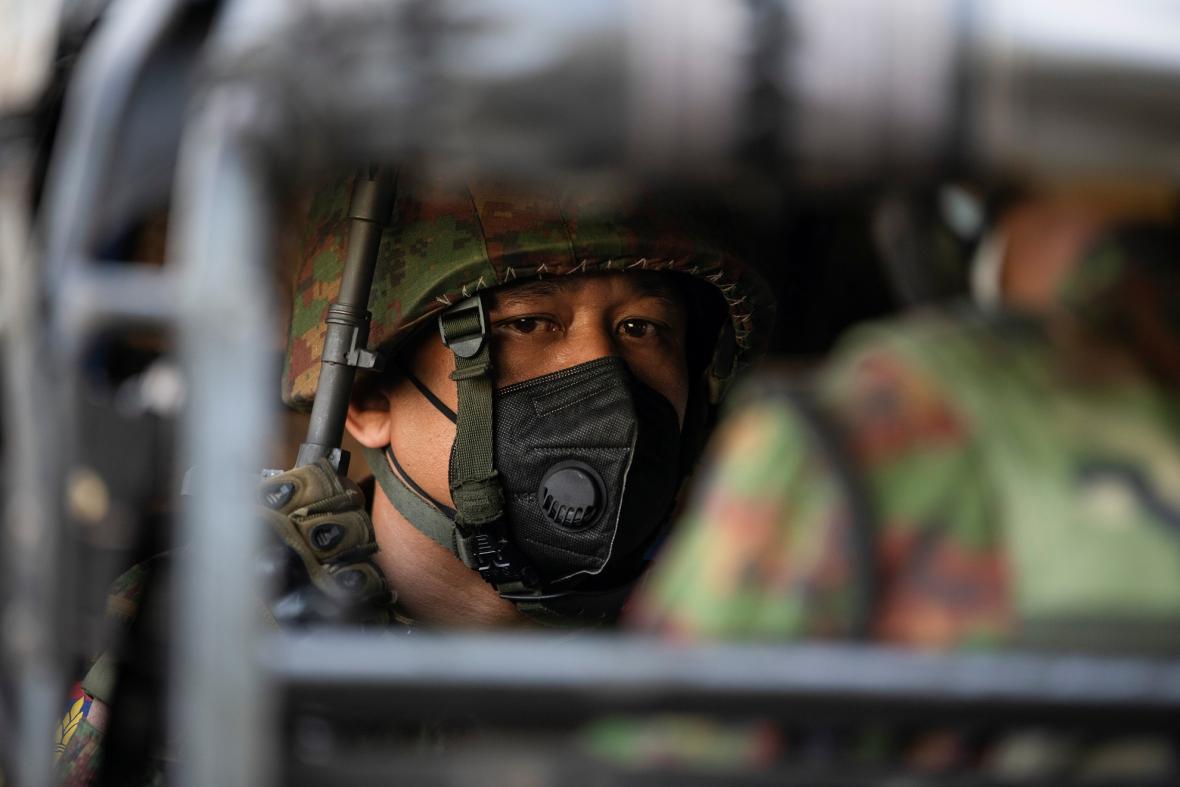 Příslušník barmské armády