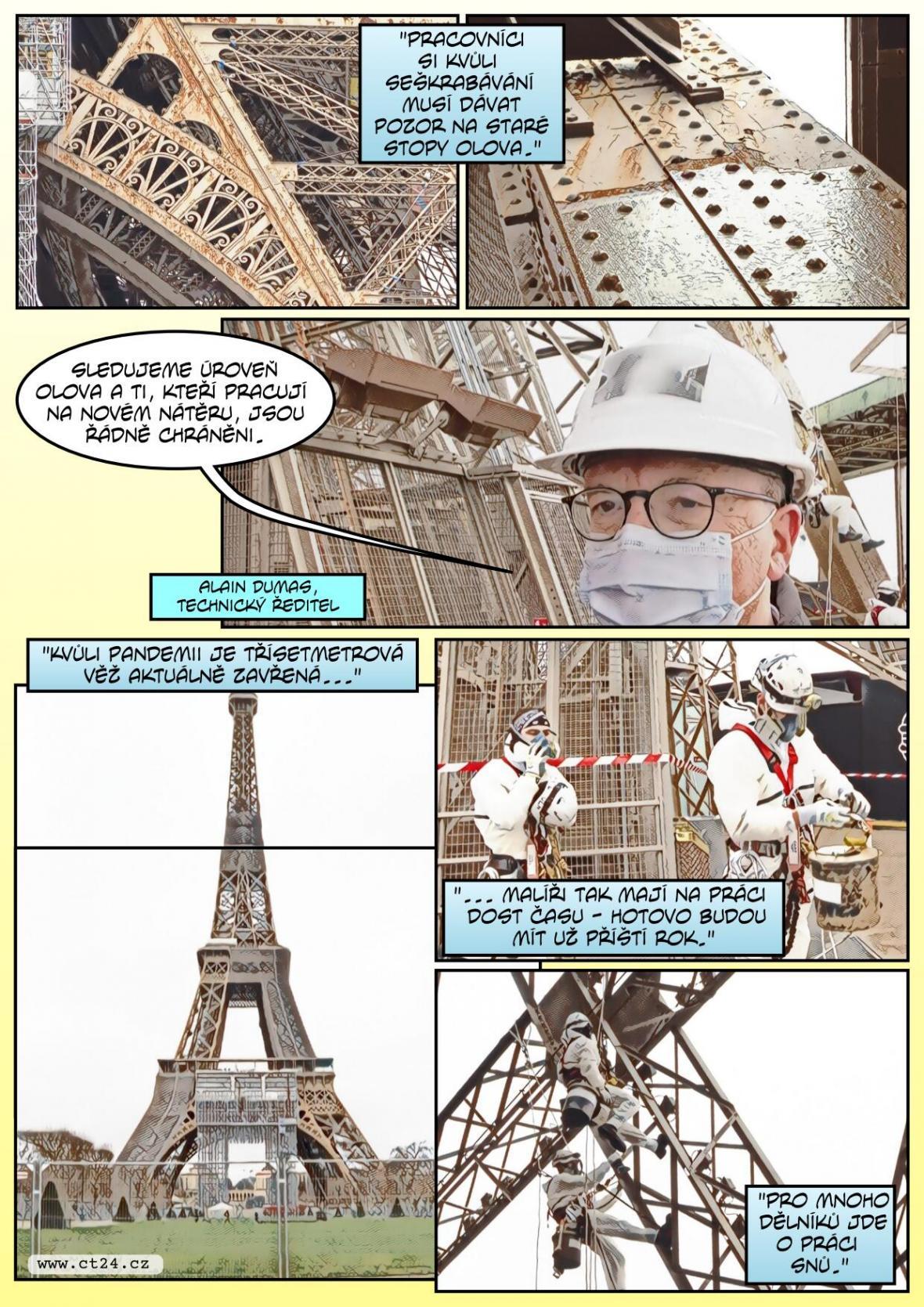Dominanta Paříže mění vizáž. Nově se Eiffelova věž zbarví dozlatova