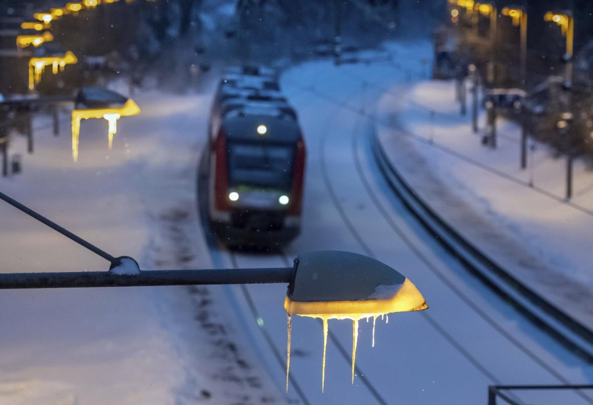 Vlak na cestě do Dortmundu