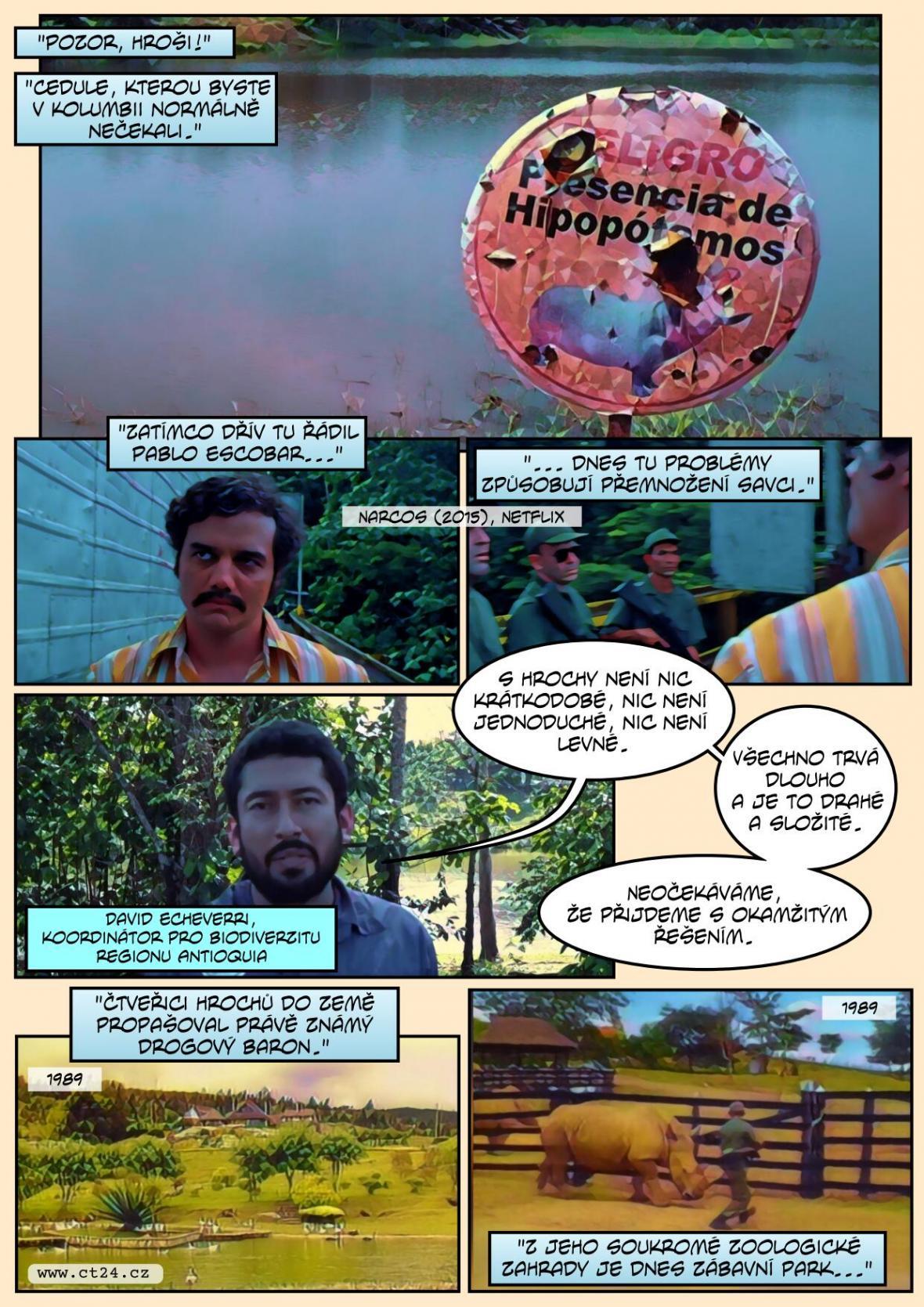 V Kolumbii se přemnožili Escobarovy hroš