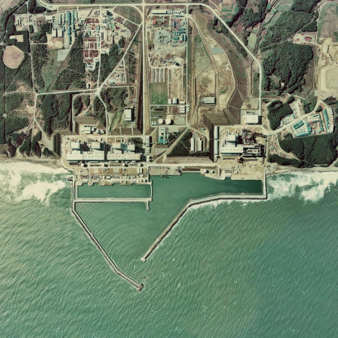 Jaderná elektrárna Fukušima, ptačí perspektiva