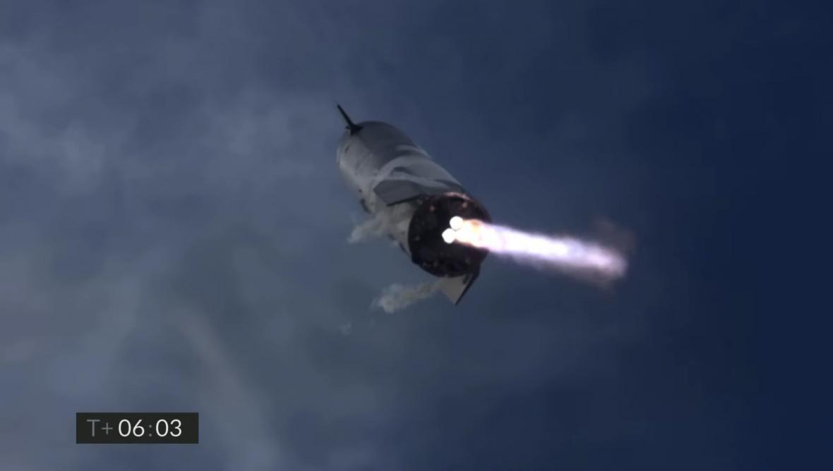 První úspěšné přistání Starship
