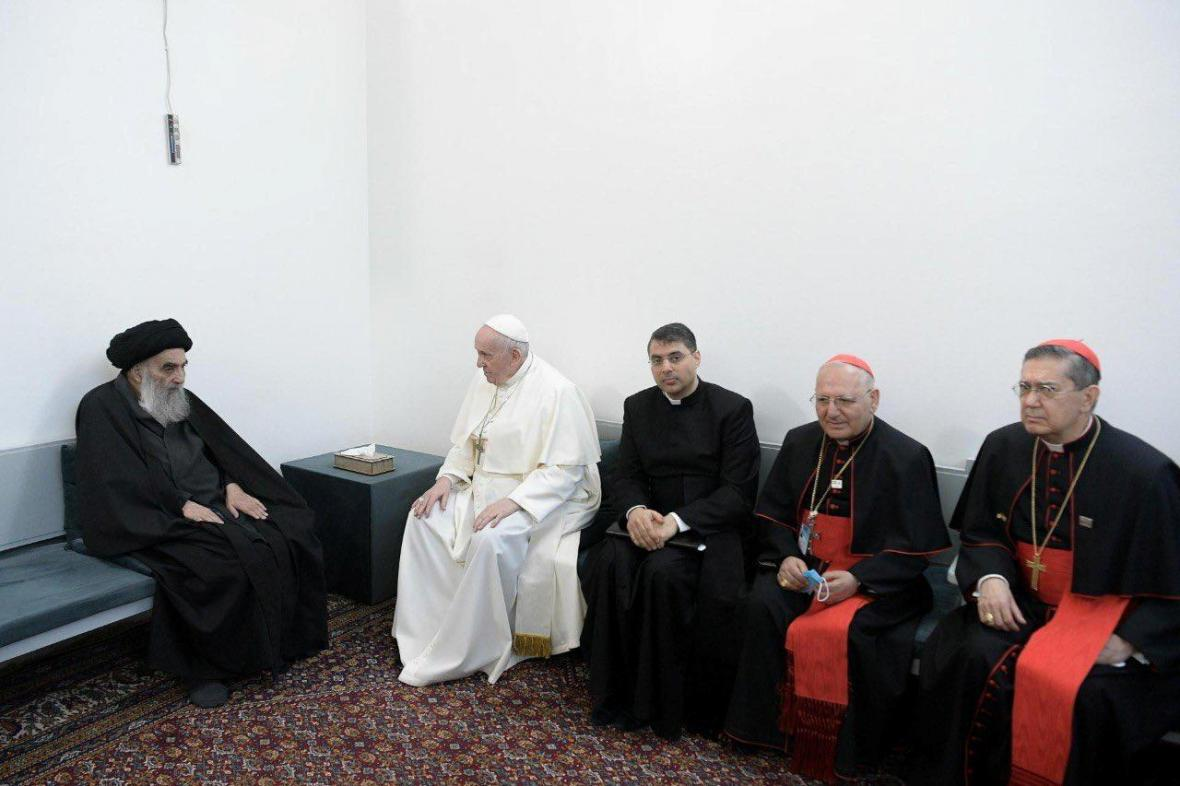 Setkání papeže Františka s Alím Sistáním