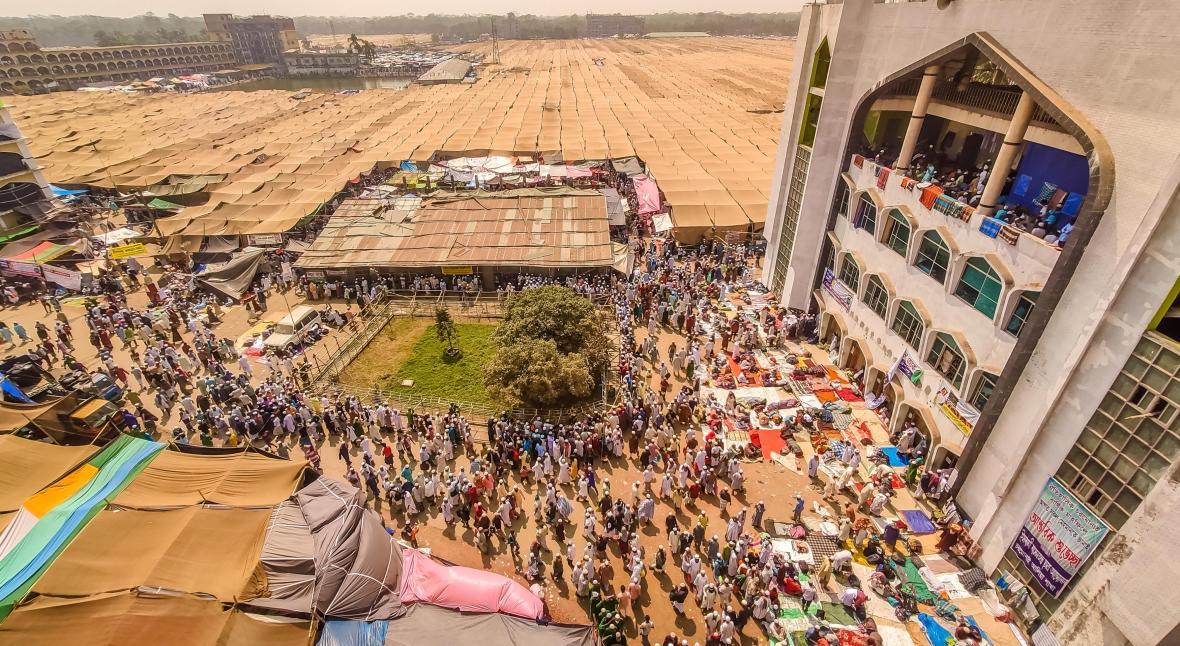 Největší islámský večer zábavní poezie, hudby a tance Mehfil v Bangladéši