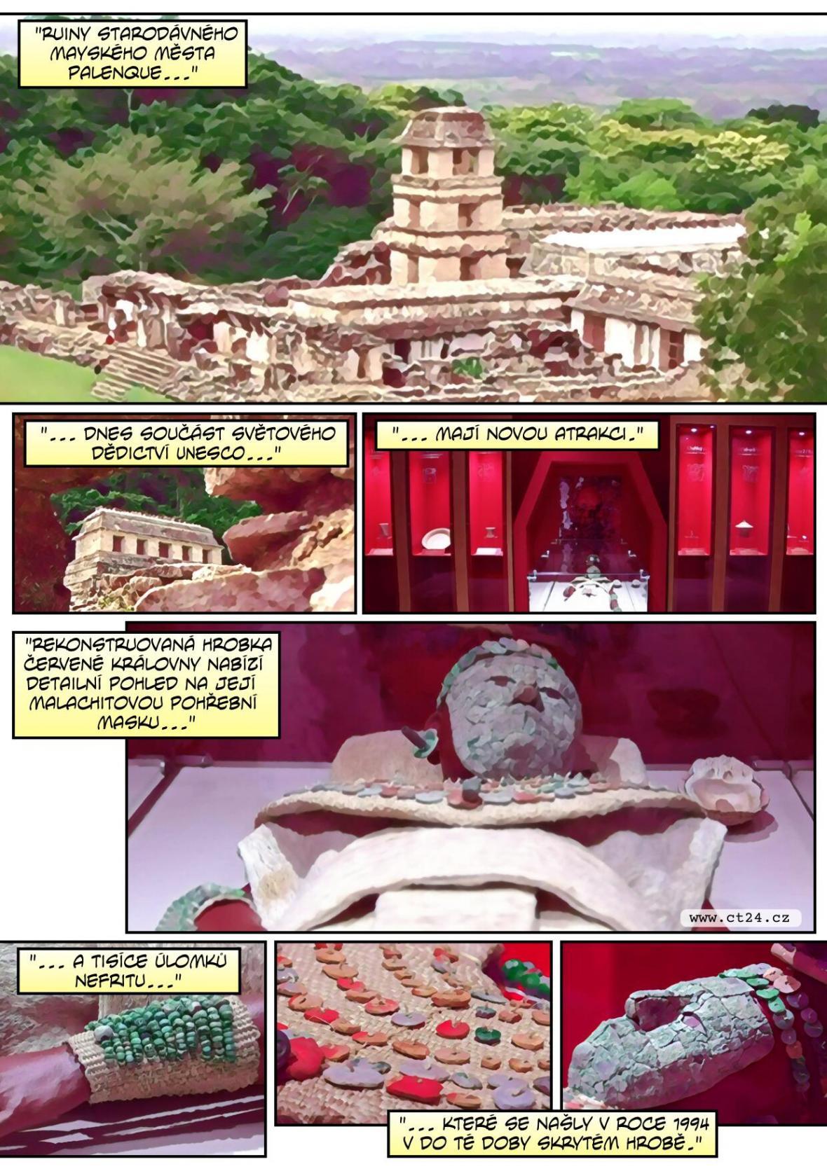Historické město Palenque v Mexiku chystá novou atrakci. Zrekonstruovalo hrobku mayské Červené královny