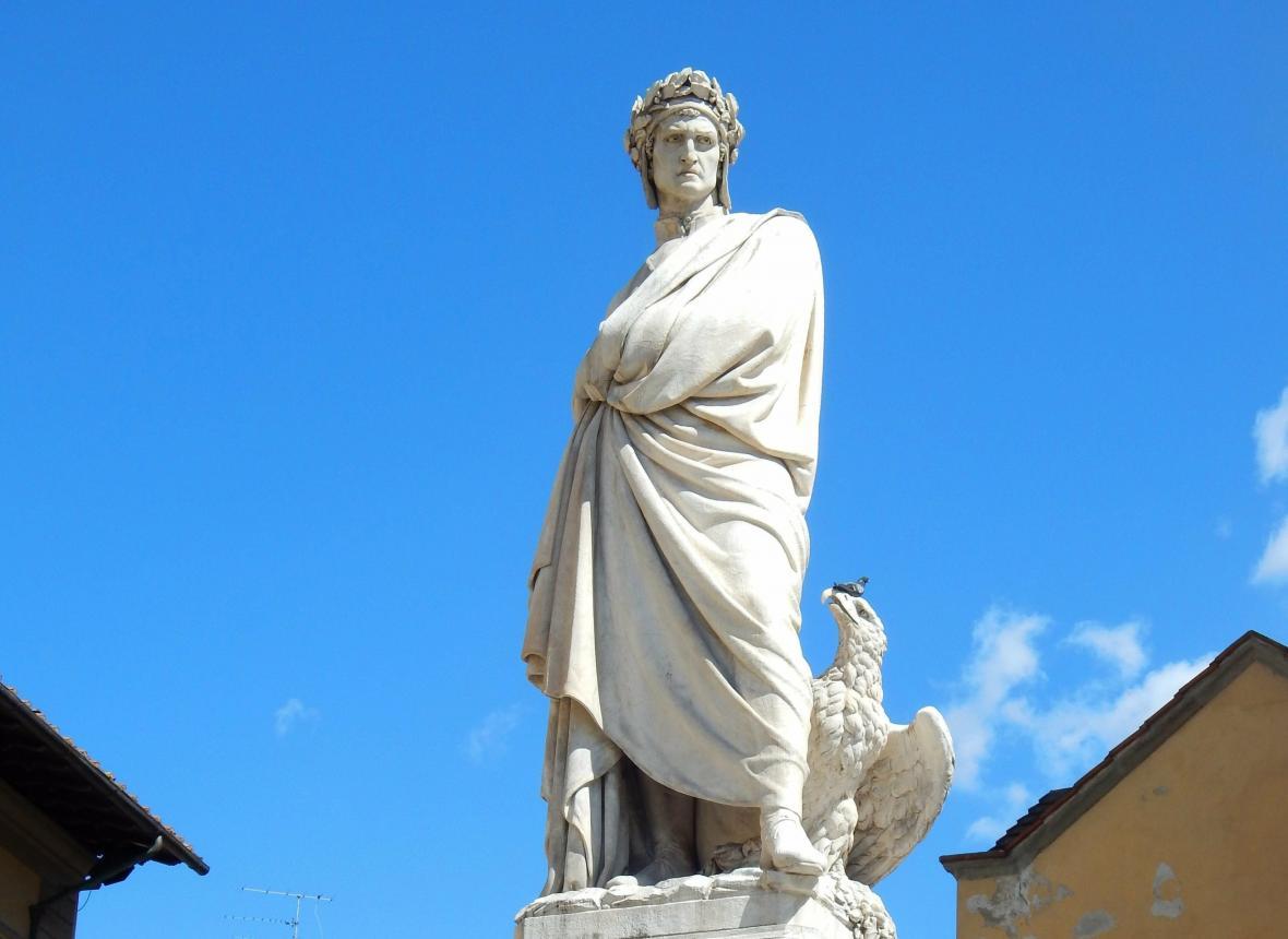 Danteho socha ve Florencii