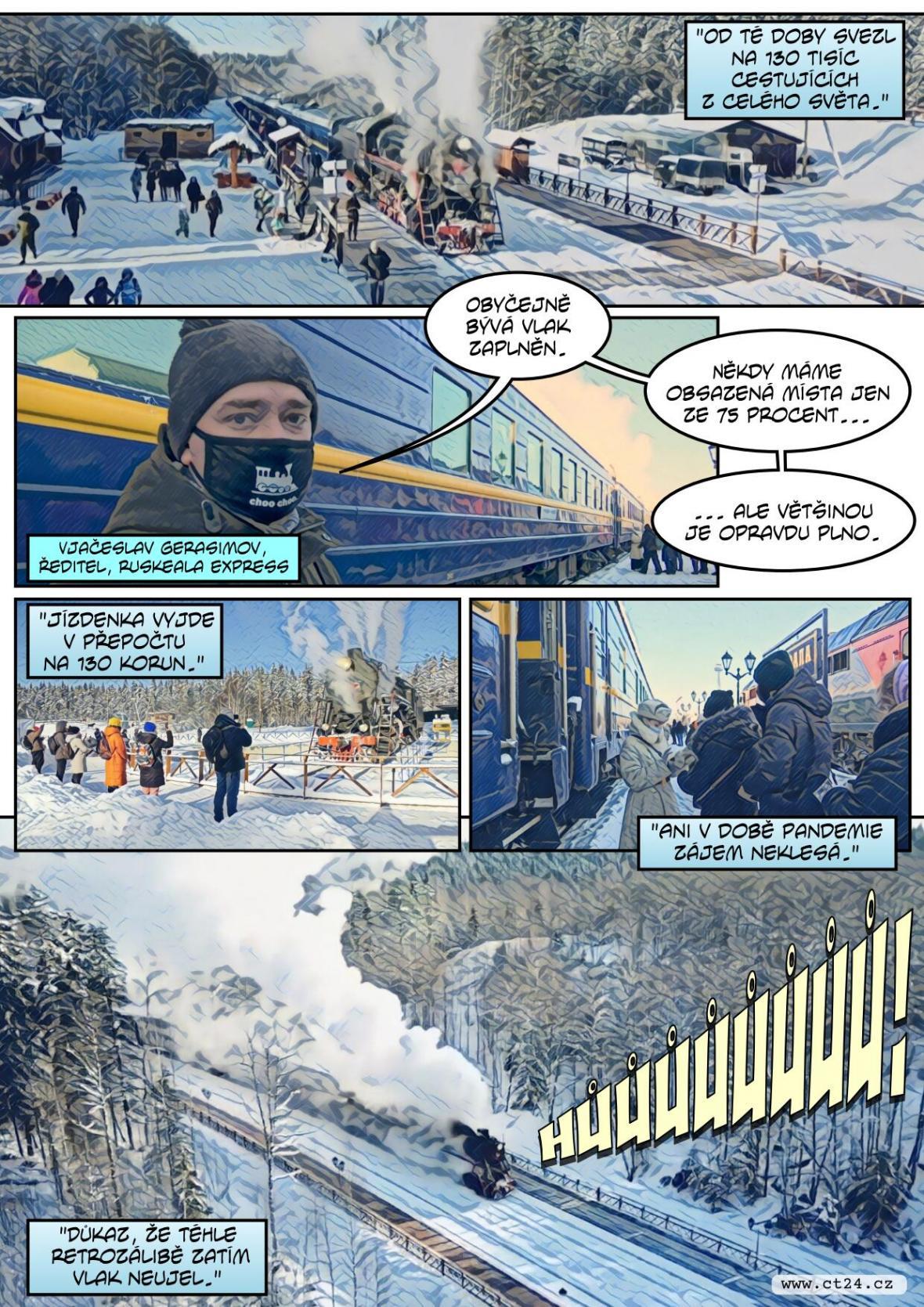 V Rusku táhnou retro vlaky