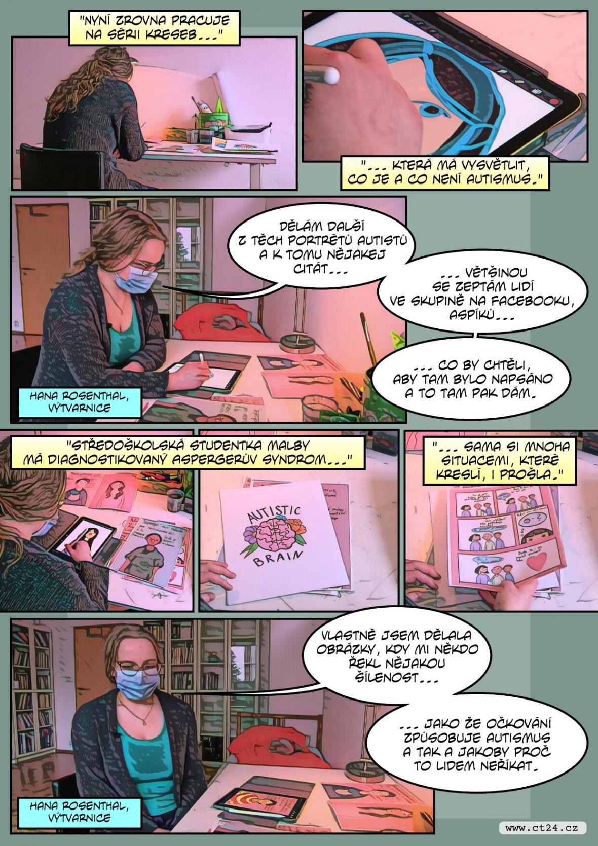 Mladá kreslířka se pomocí komiksu snaží vyvracet předsudky o autismu