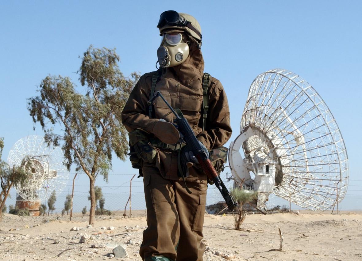 Vojáci z české protichemické jednotky nacvičovali v severokuvajtském Un al-Ajši činnost při zasažení chemickými zbraněmi.
