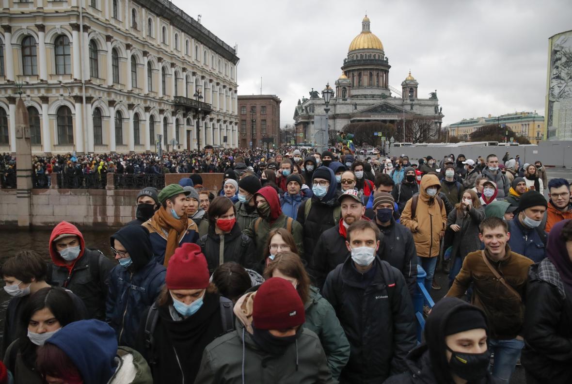 Protest v Petrohradu