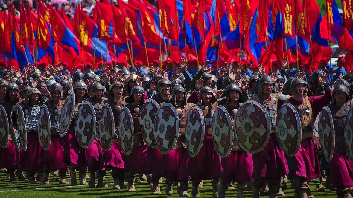 Tradiční mongolský svátek Nádam