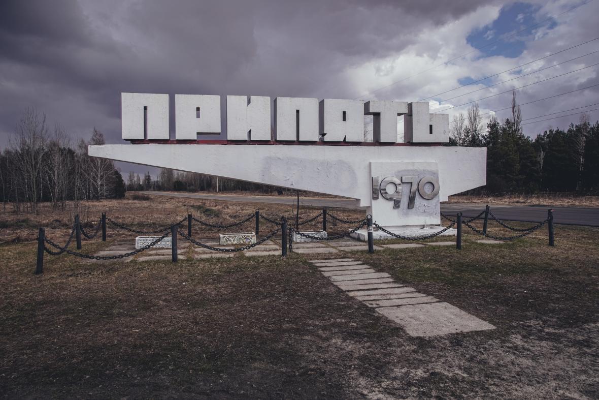 Města Černobyl a Pripjať v dubnu 2021, 35 let po havárii ve 4. bloku jaderné elektrárny Černobyl