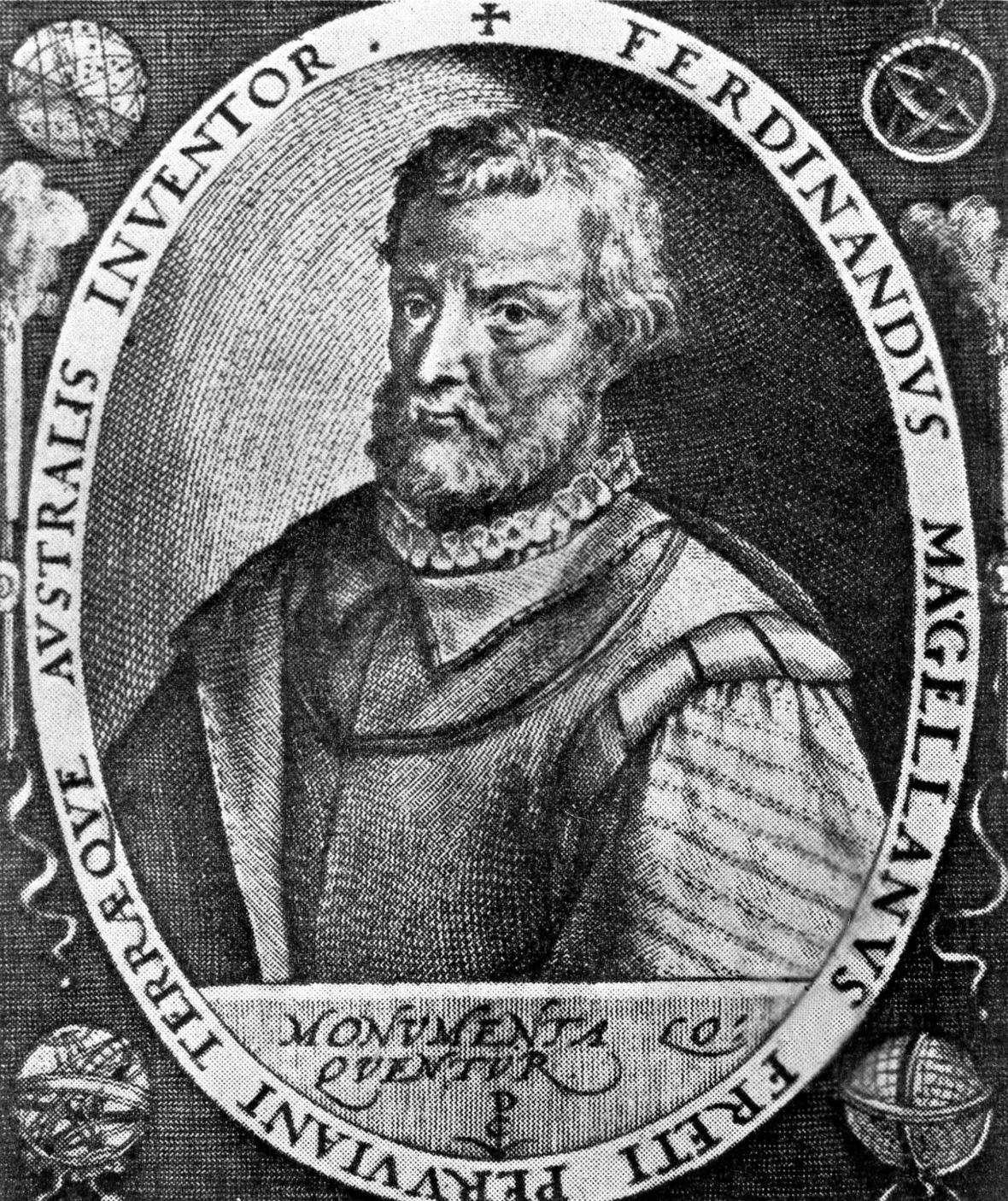 Historické obrazy portugalského mořeplavce Fernão de Magalhãese (1480-1521)
