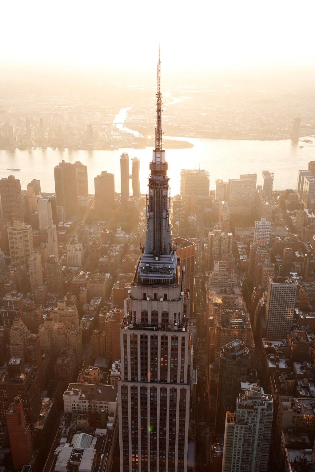 Východ slunce na Manhattanu