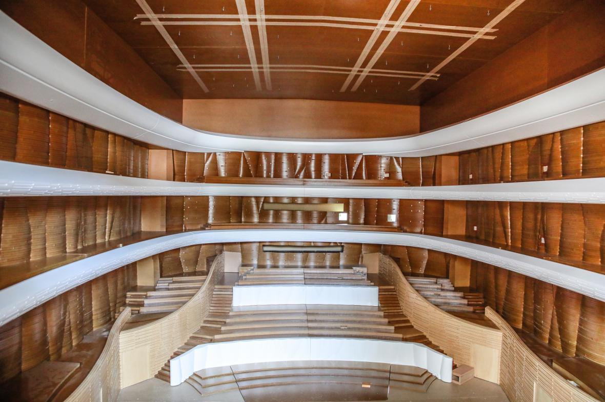 Akustický model nového koncertního sálu v Brně (zevnitř)