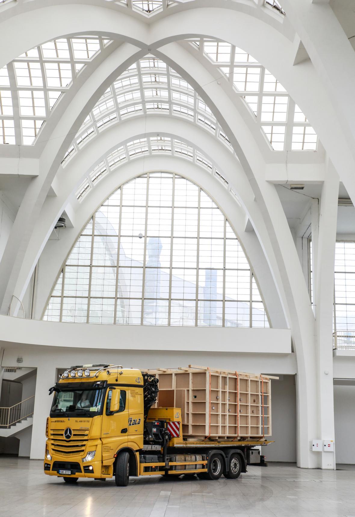 Model koncertního sálu před brněnským výstavištěm