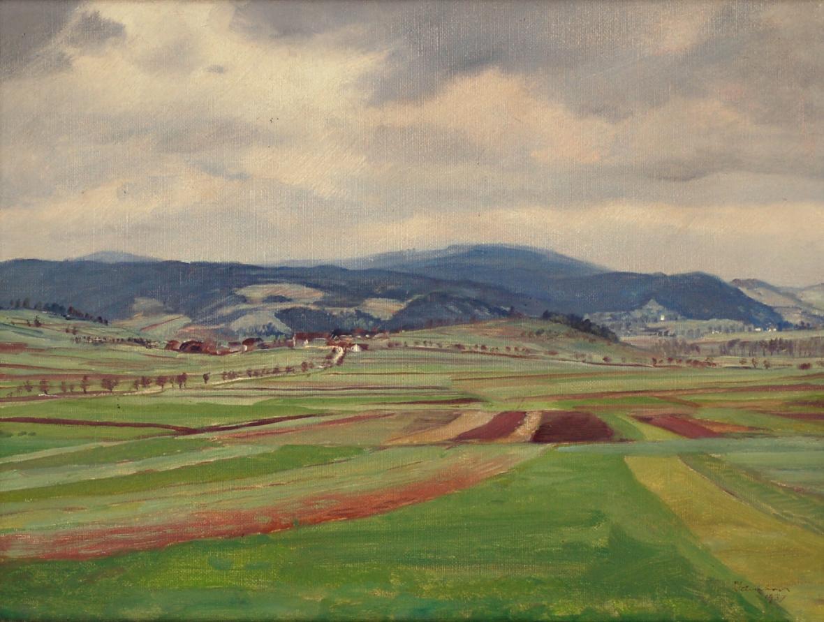 Josef Jambor: Jarní krajina (1939), Horácká galerie v Novém Městě na Moravě