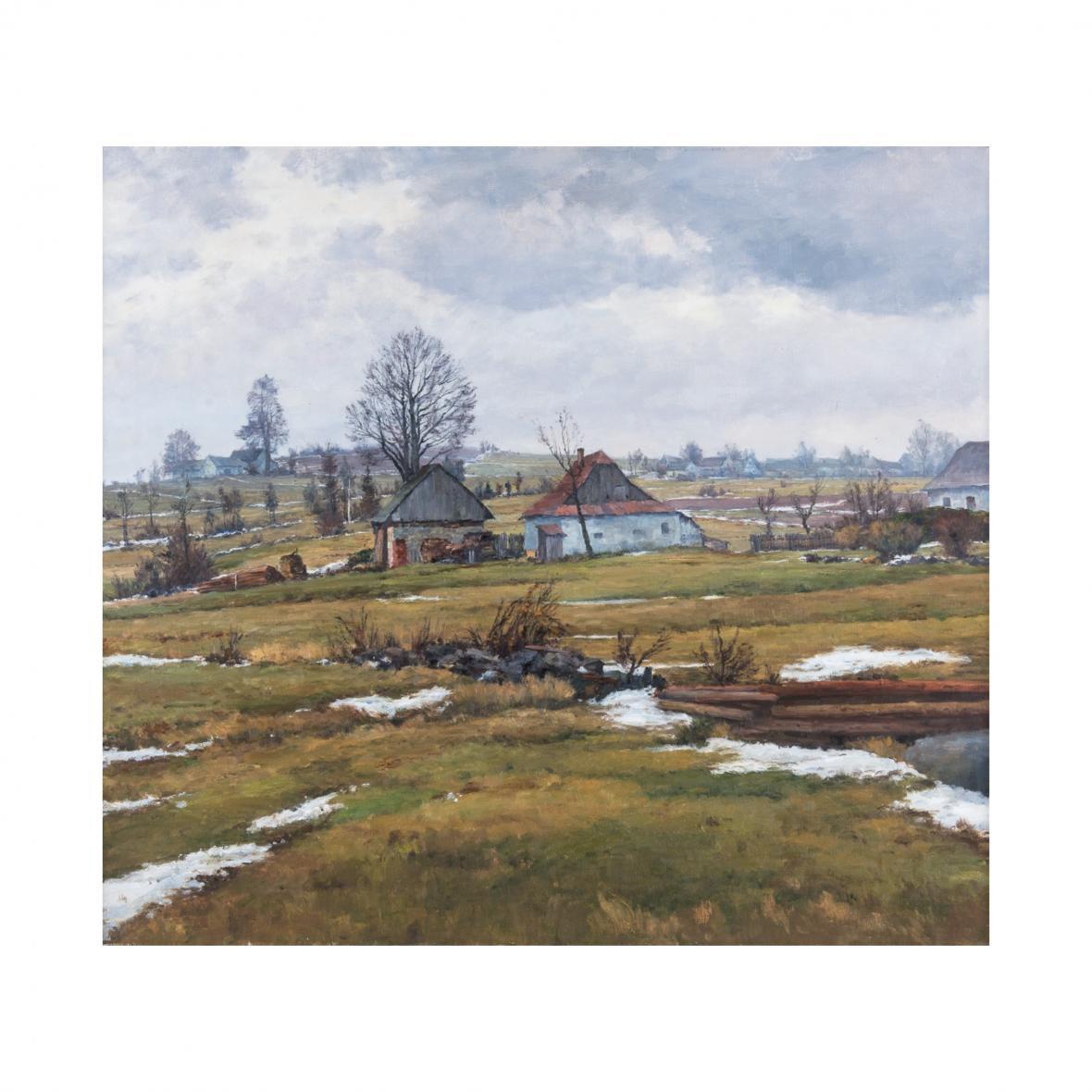 Josef Jambor: Poslední sníh na Blatinách (1961), Horácká galerie v Novém Městě na Moravě