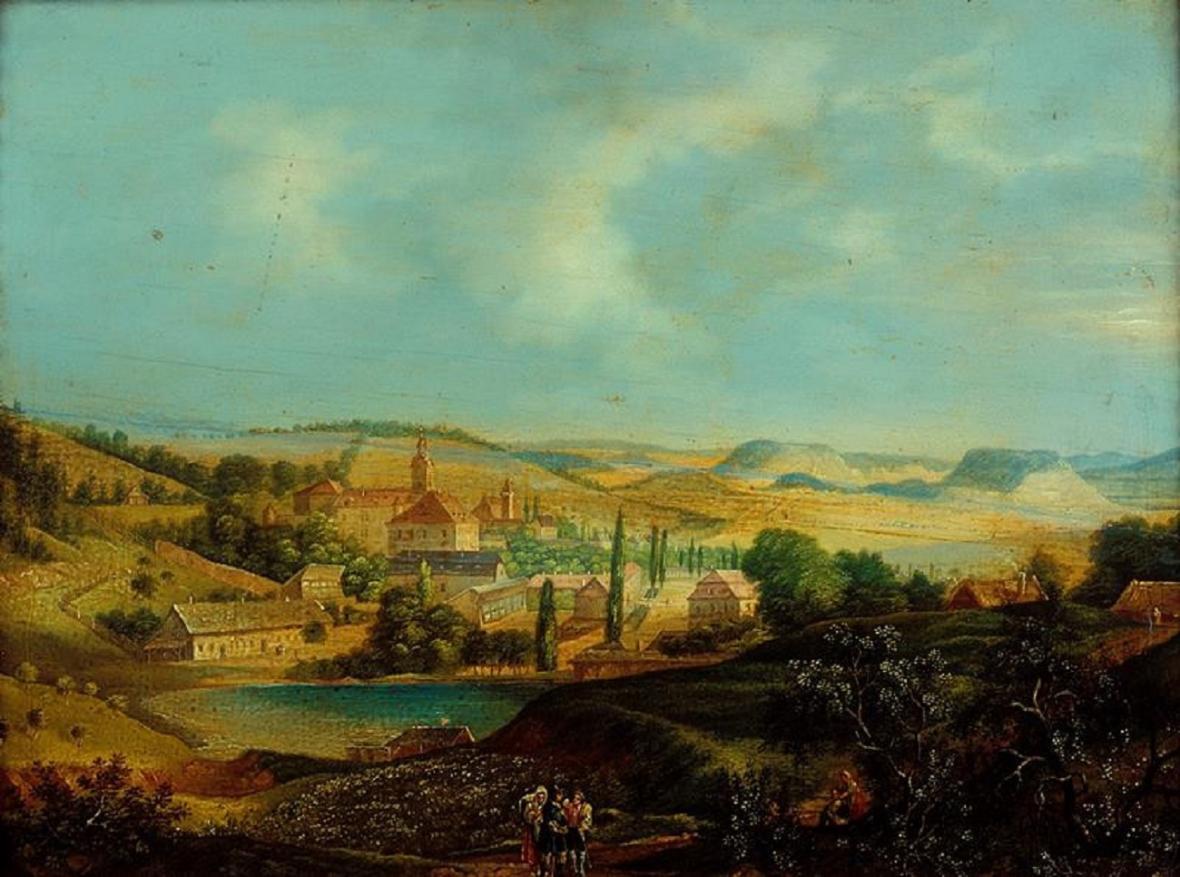 František Richter: Mitrov – pohled na zříceninu (1824), Moravská galerie vBrně