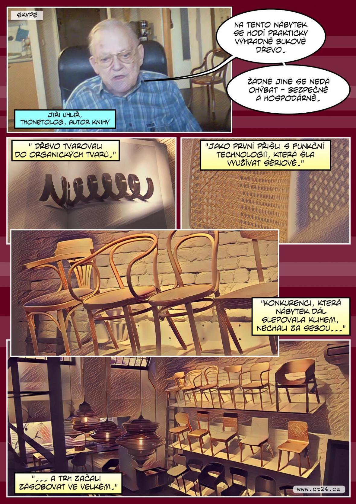 Historie židle thonetka
