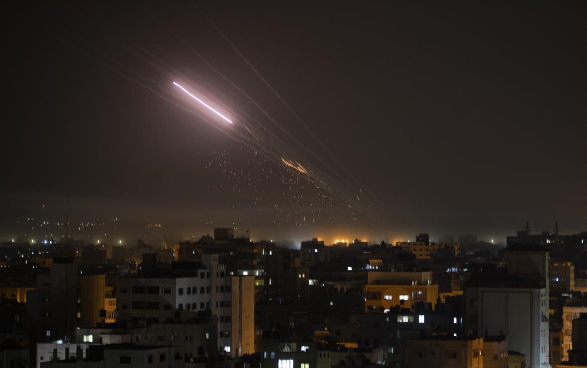 Rakety mířící na území židovského státu