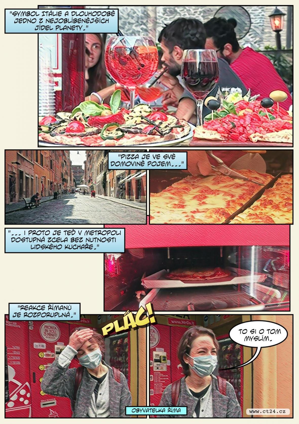 Automat na pizzu dělí Řím