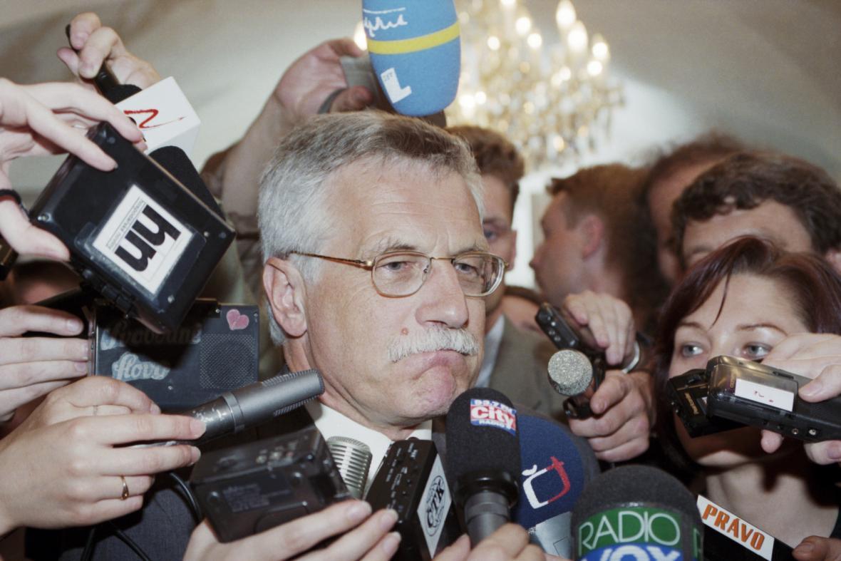 Václav Klaus po volbách v roce 1996