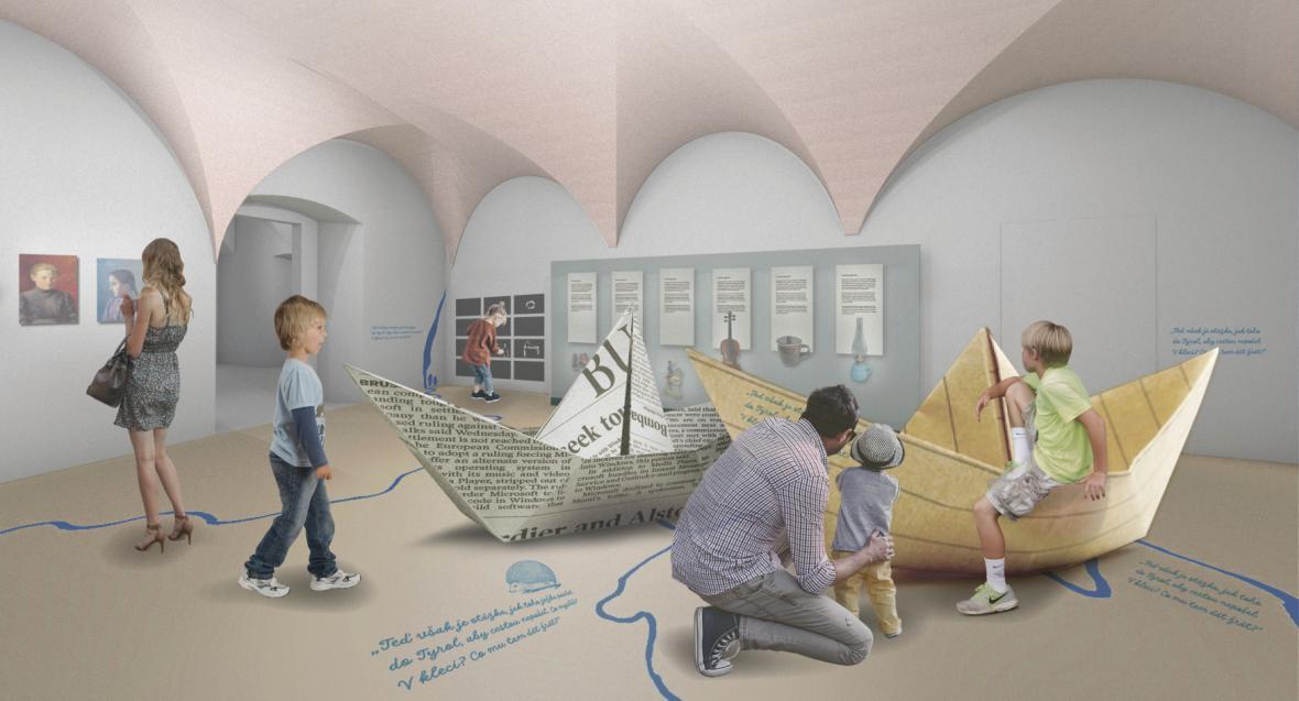 Vizualizace obnoveného Muzea Alfonse Muchy