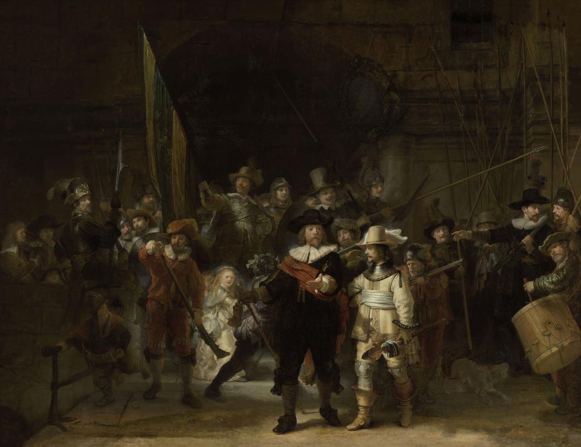 Amsterdamské muzeum zrekonstruoval Rembrandtovu Noční hlídku