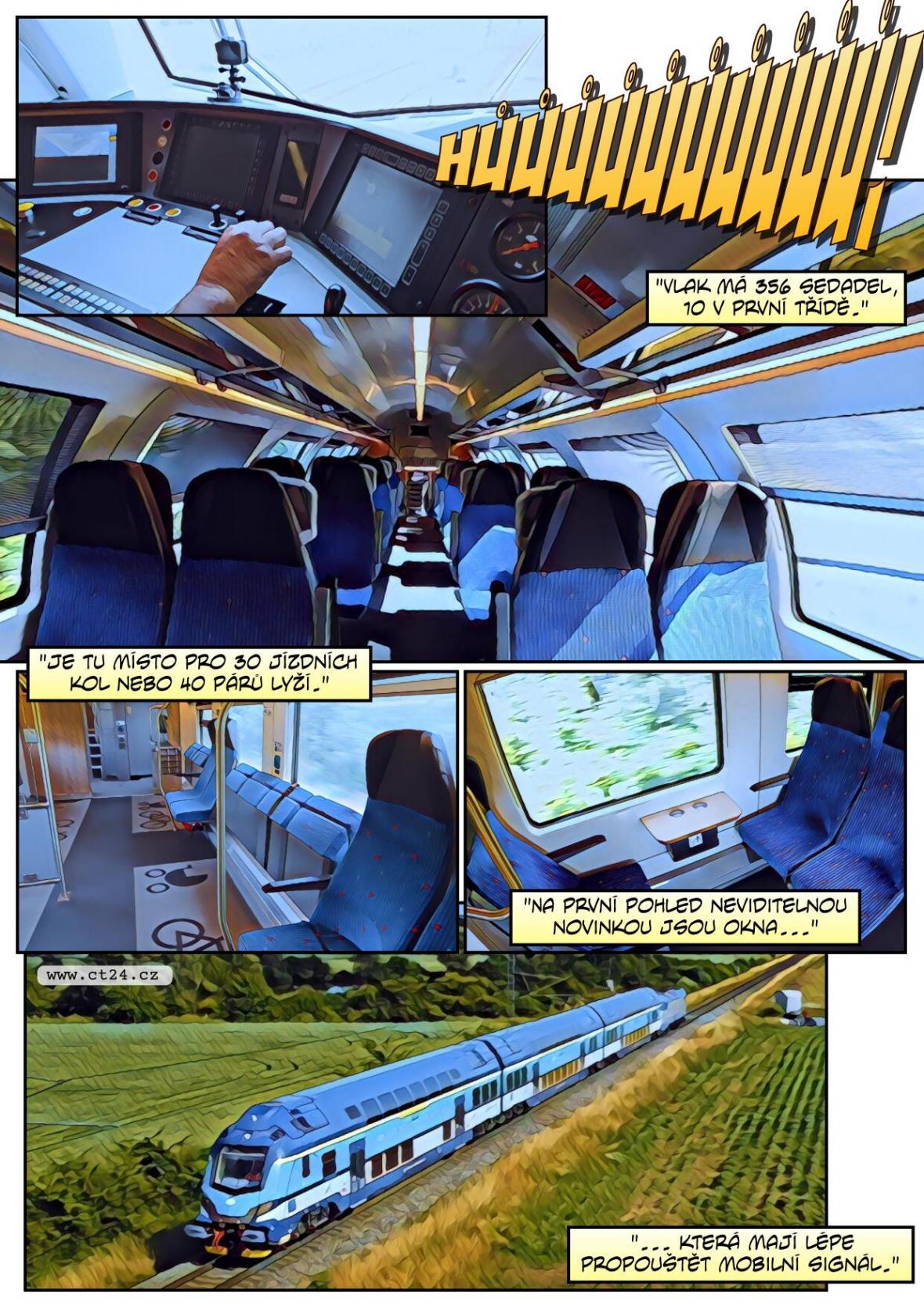 Nové dvoupatrové vlaky přinesou větší pohodlí