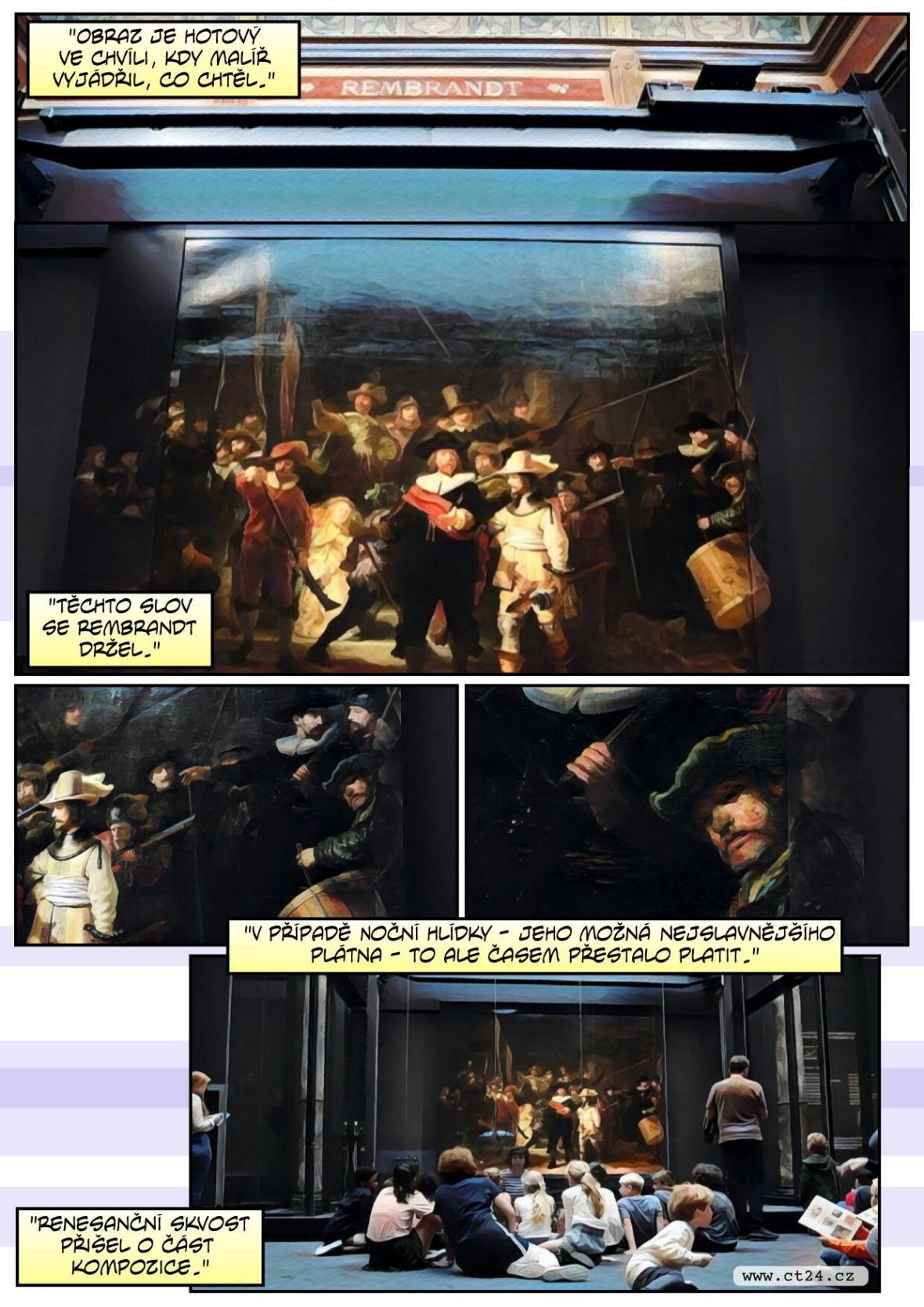 Rembrandtovu Noční hlídku dokončila umělá inteligence. Doplnila v minulosti odstraněné části