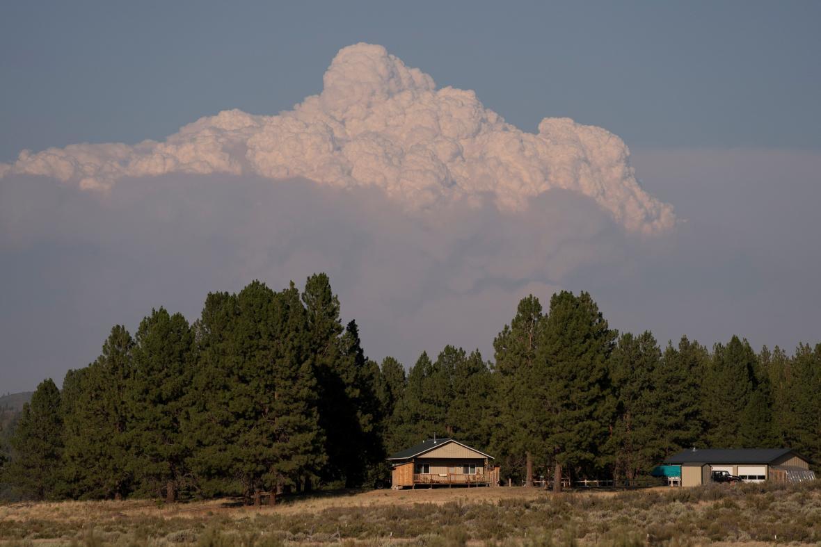 Požár v Oregonu