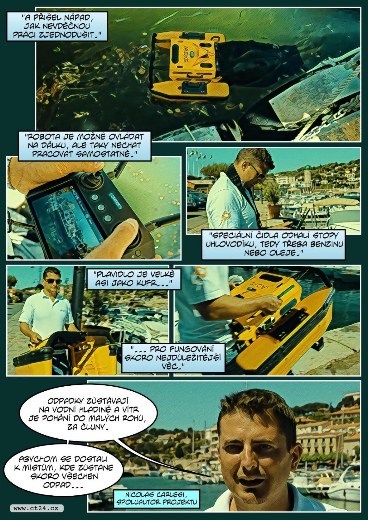 """Francouzské přístavy brázdí """"robomedúza"""""""