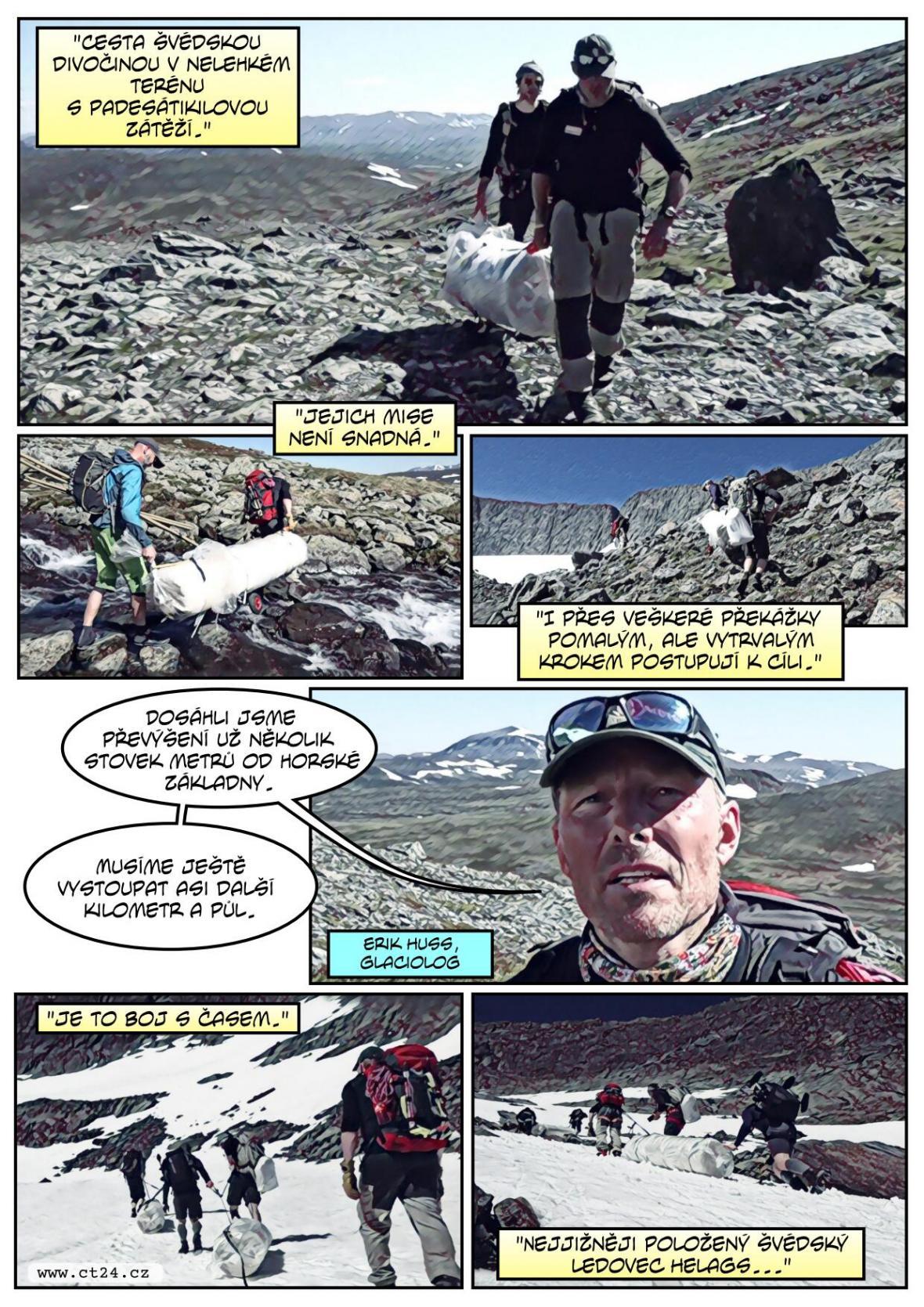 Speciální plachta proti odtávání ledovců