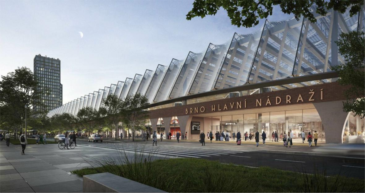 Návrh nového hlavního vlakového nádraží v Brně
