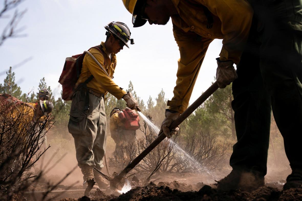 Požáry v hornatých oblastech státu Oregon mají přímý dopad na smogovou situaci ve velkých městech Spojených států amerických
