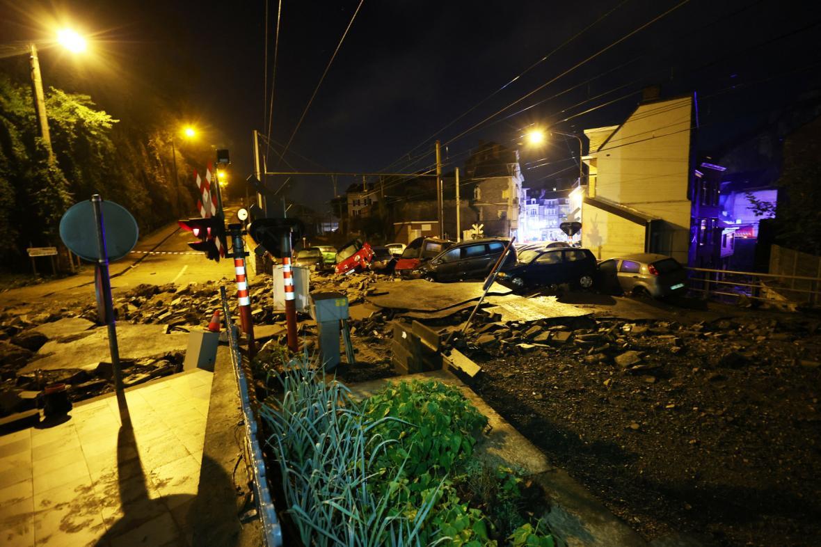 Následky záplav v Belgii