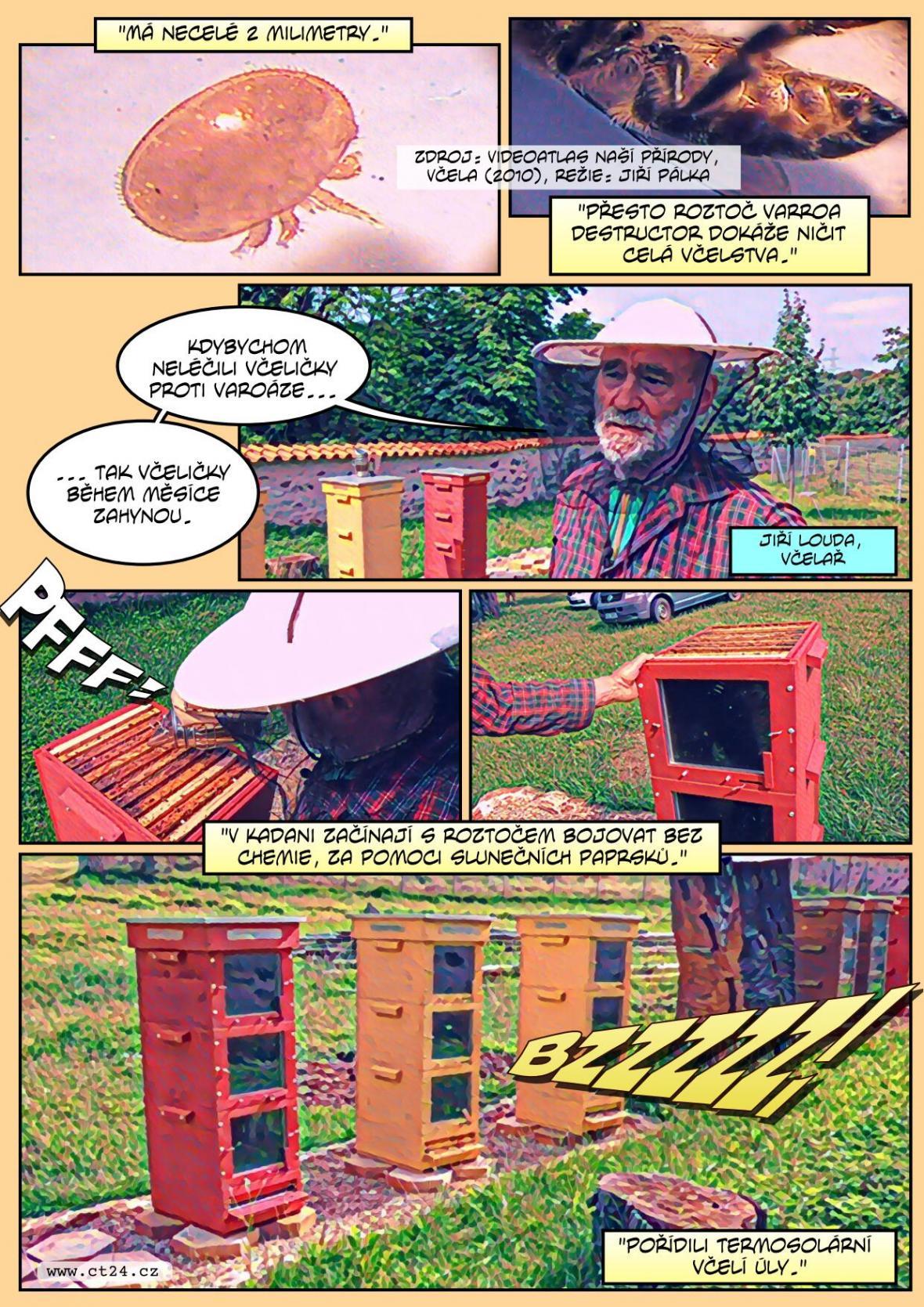 Místo chemických postřiků teplo a slunce. V Kadani zkouší proti včelím roztočům speciální české úly