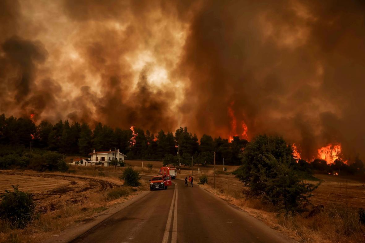 Požáry na ostrově Euboia