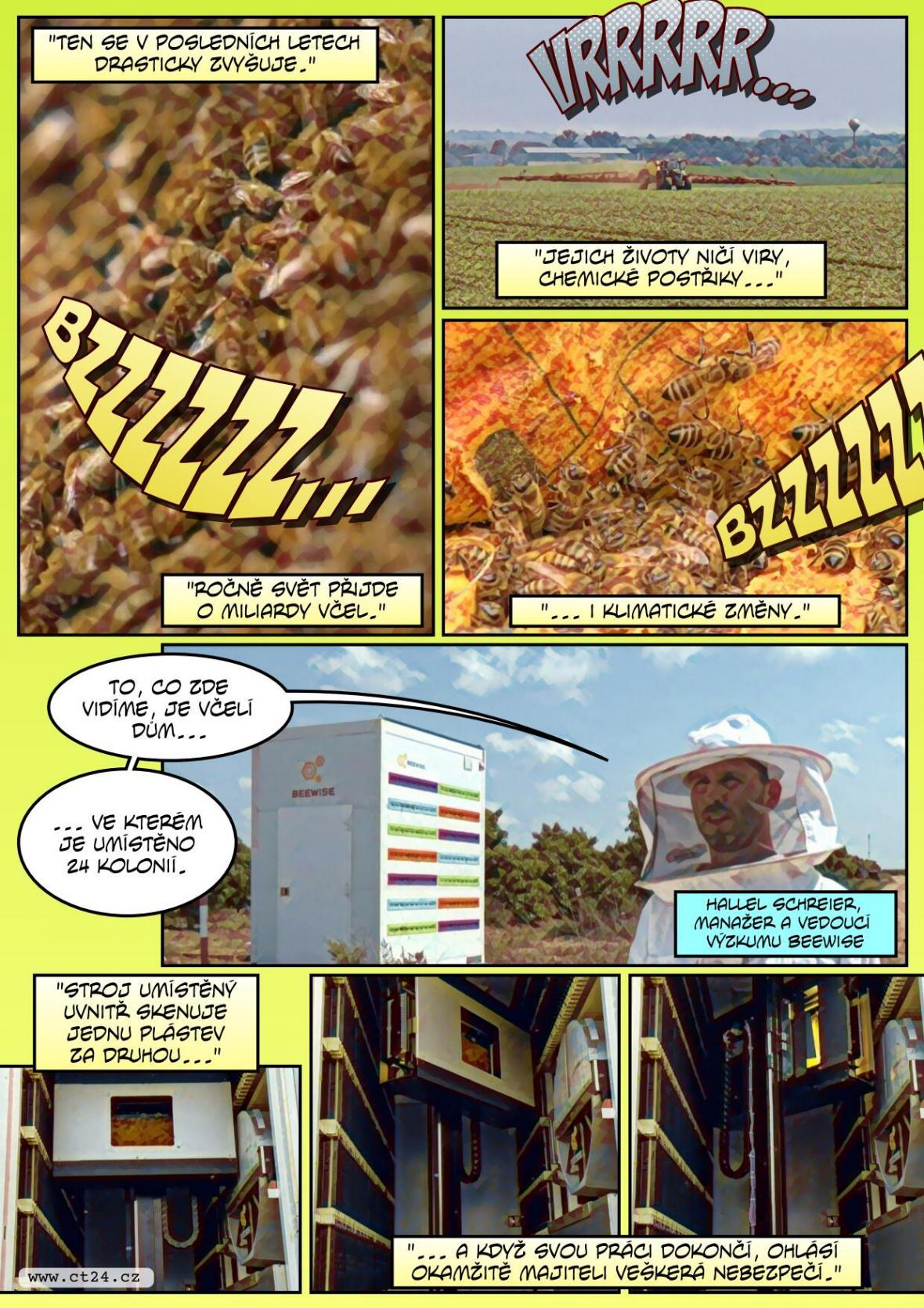 Izraelští vědci vyrazili včelám na pomoc. Pro ohrožené roje staví speciální robotické úly