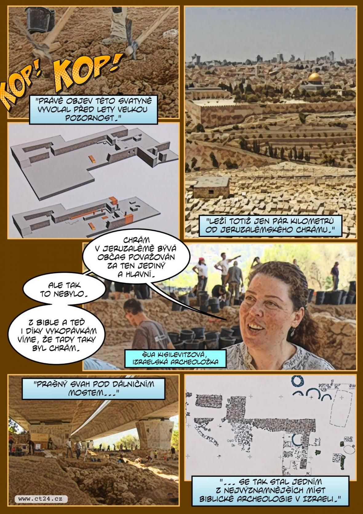 Češi pomáhají odkrývat chrám v Izraeli